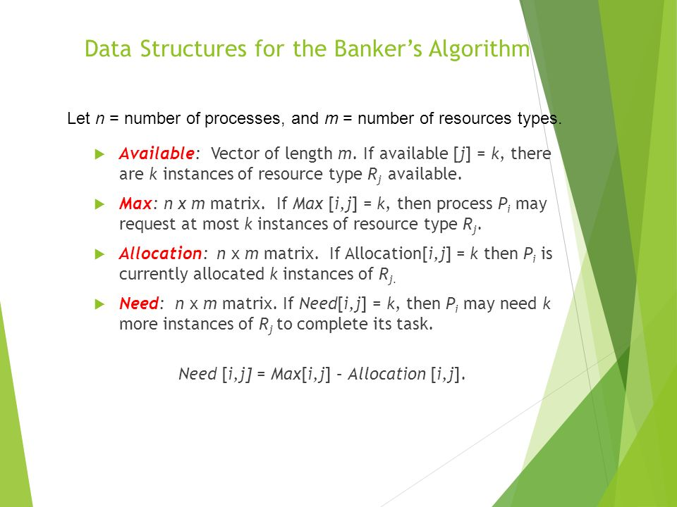 Data Structures for the Banker's Algorithm