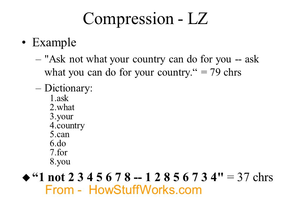 Compression - LZ Example