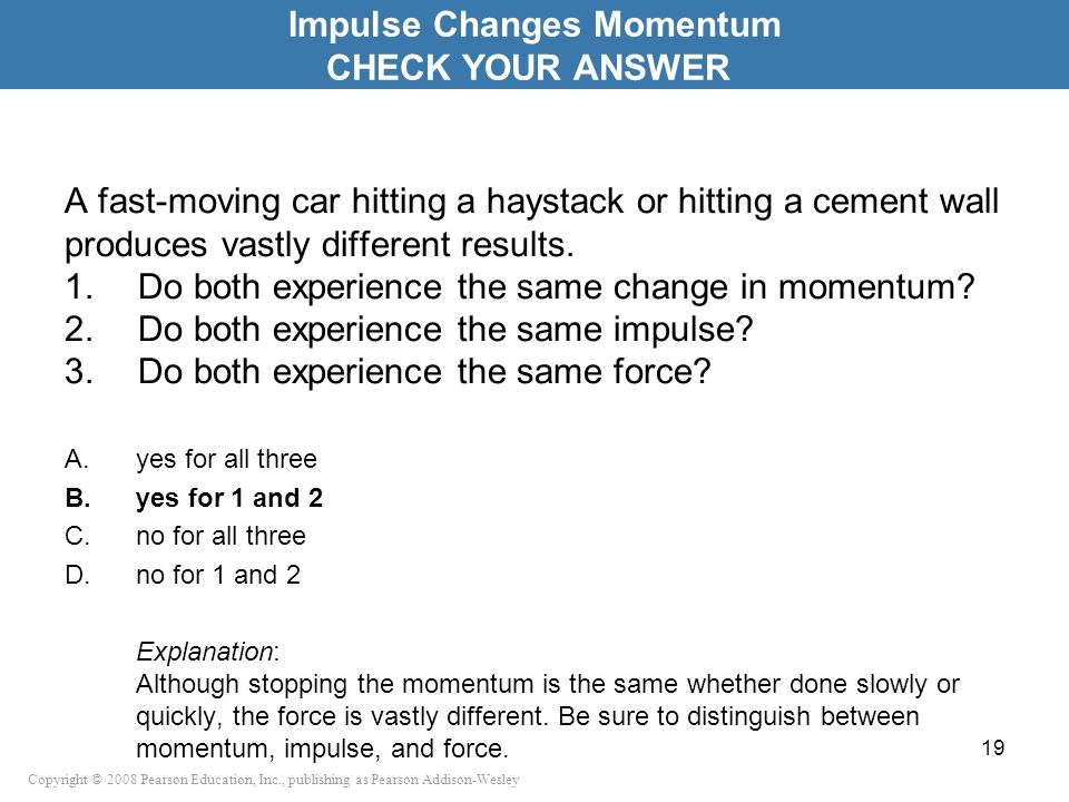 Impulse Changes Momentum