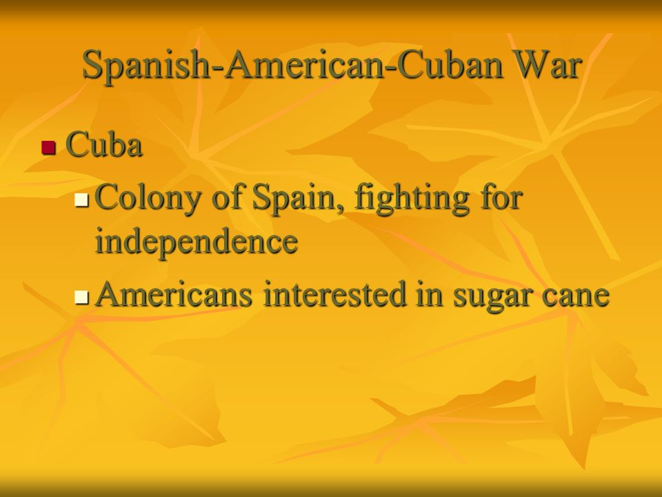 Spanish-American-Cuban War