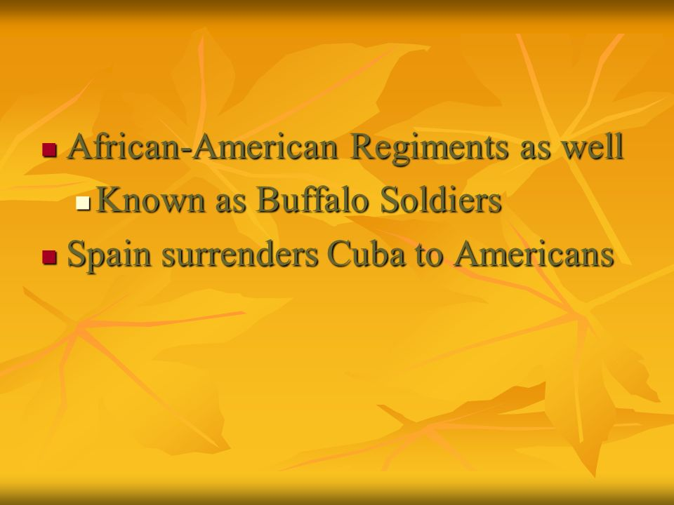 African-American Regiments as well