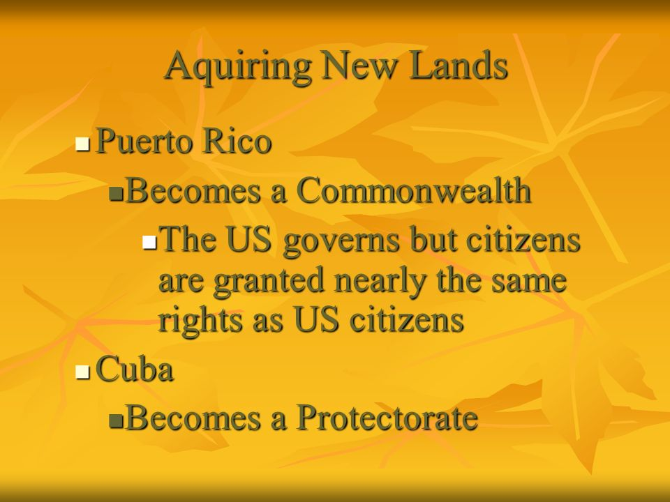 Aquiring New Lands Puerto Rico Becomes a Commonwealth