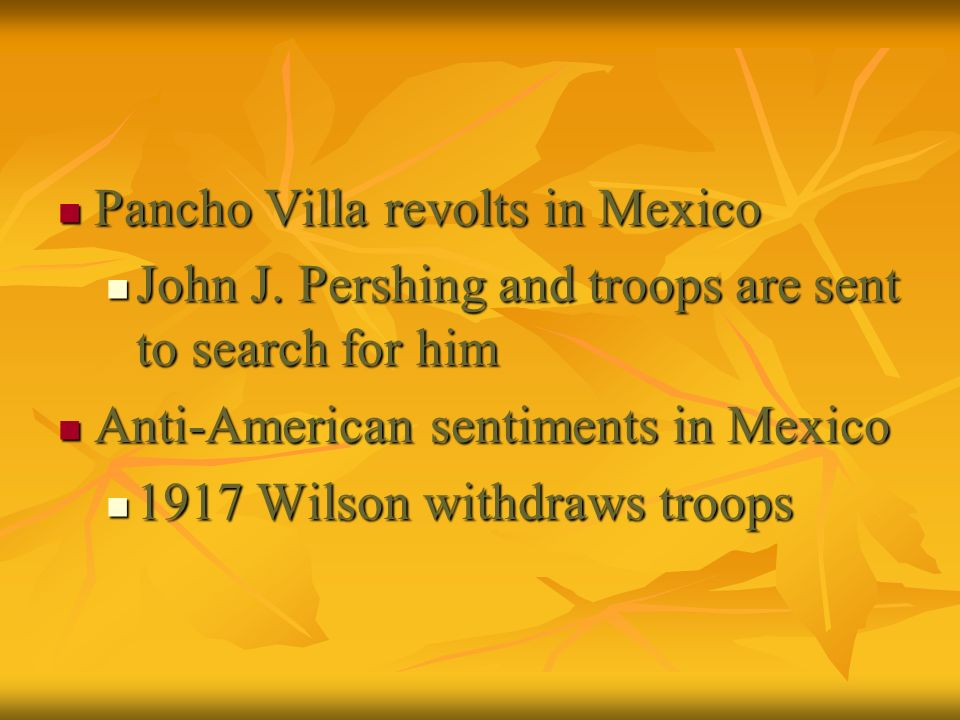 Pancho Villa revolts in Mexico