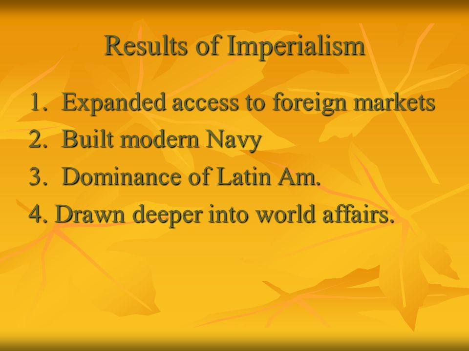 Results of Imperialism