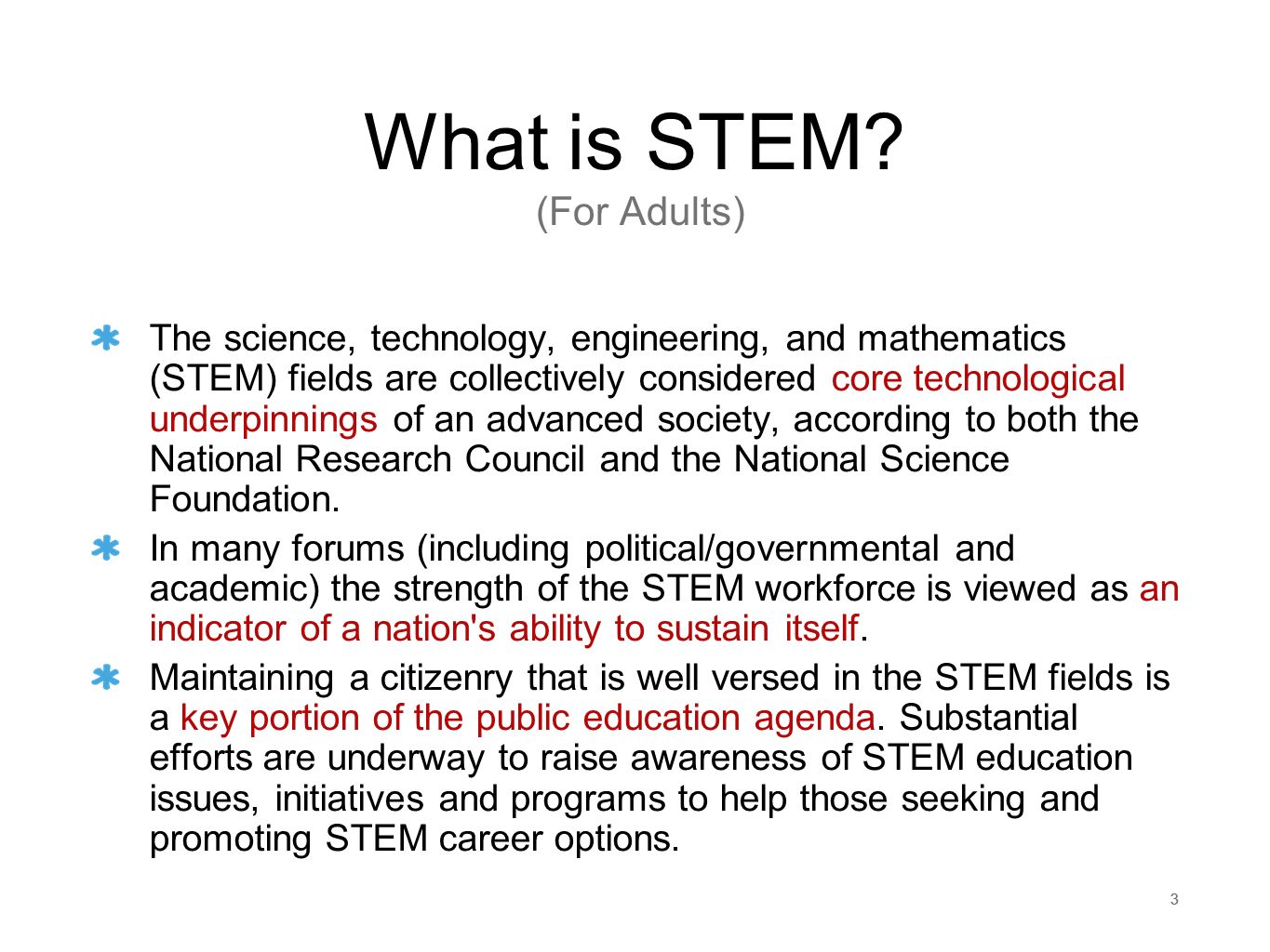 What is STEM (For Adults)