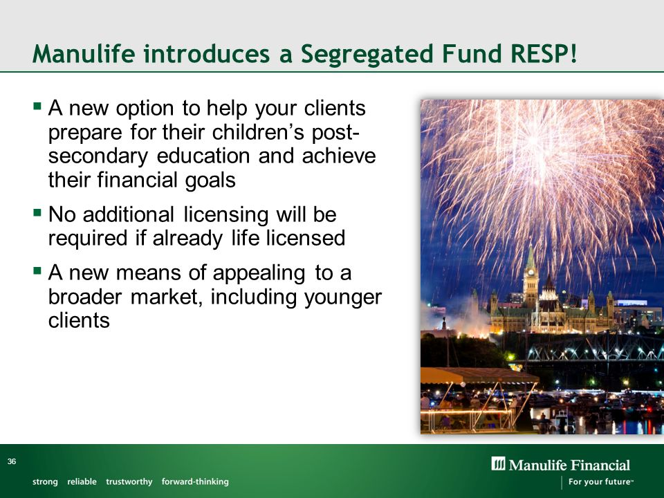 Manulife introduces a Segregated Fund RESP!
