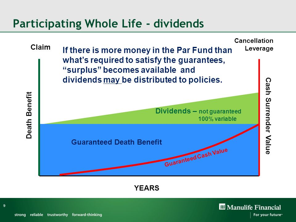Participating Whole Life - dividends