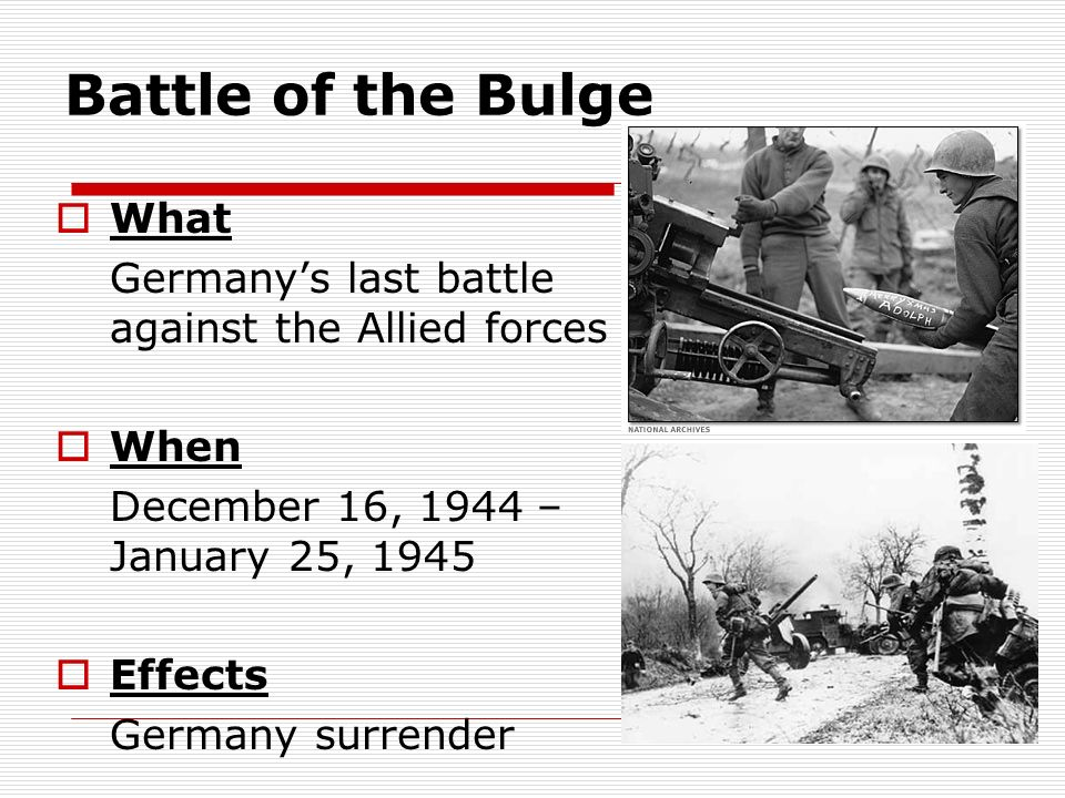 Battle of the Bulge What