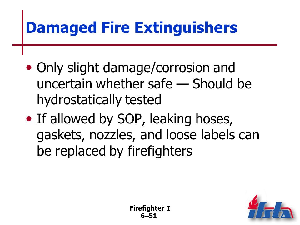 Damaged Fire Extinguishers