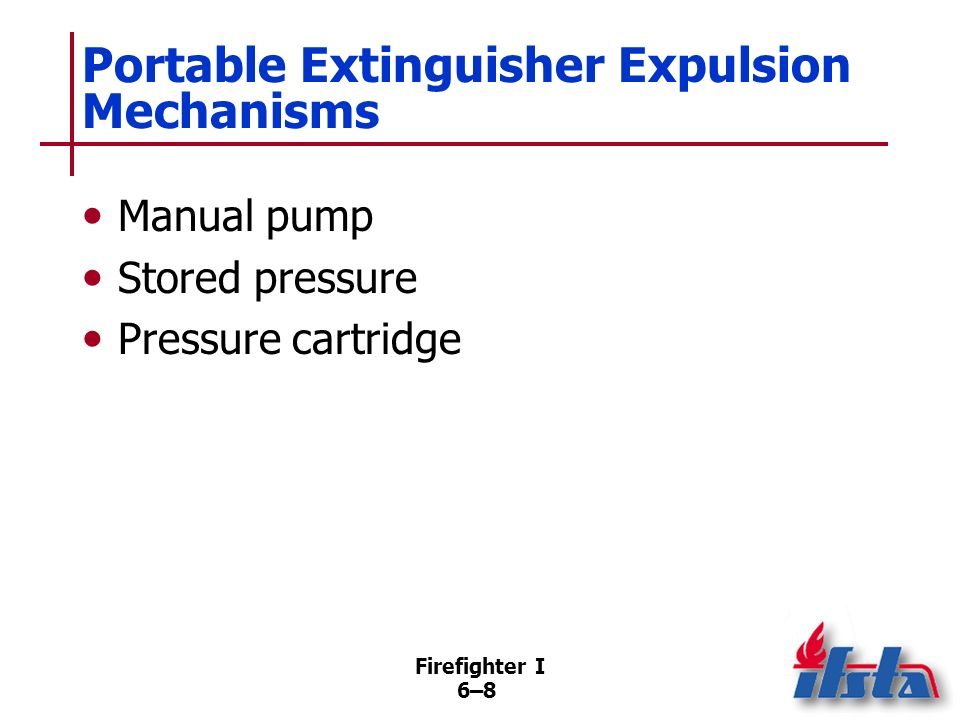 Portable Extinguisher Expulsion Mechanisms