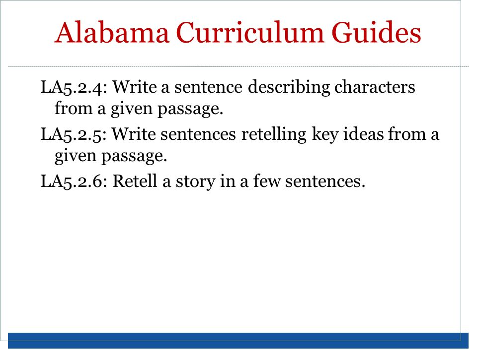 Alabama Curriculum Guides