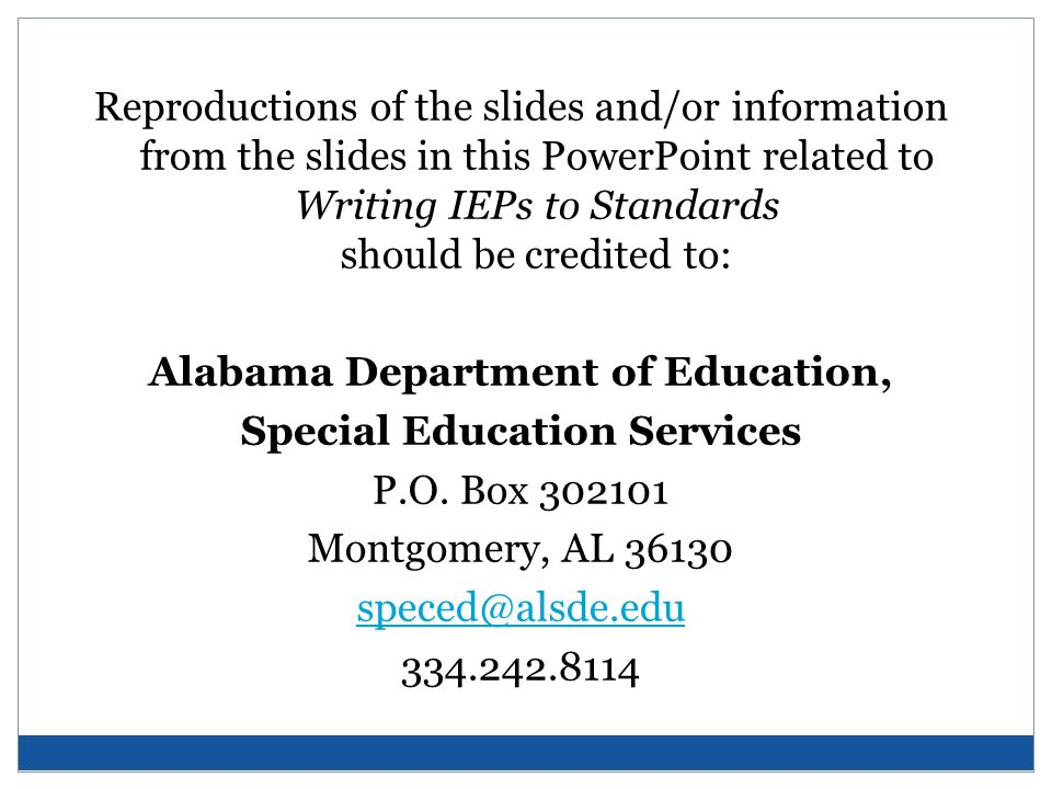 Alabama Department of Education, Special Education Services