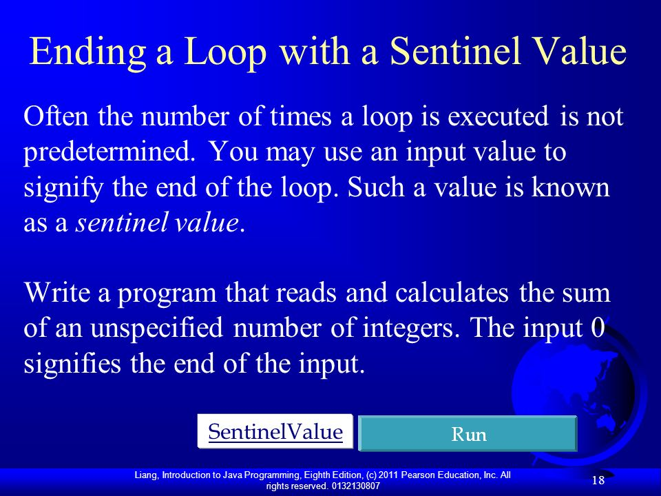 Ending a Loop with a Sentinel Value