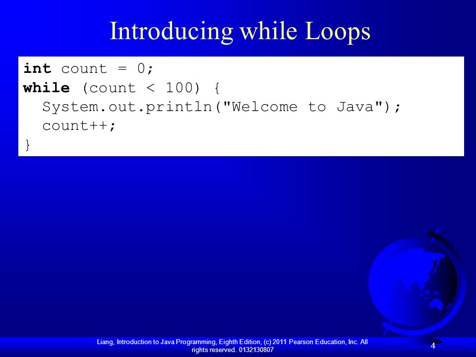 Introducing while Loops