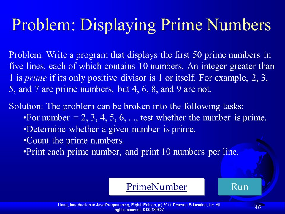 Problem: Displaying Prime Numbers