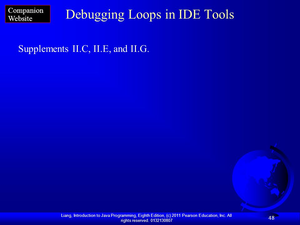 Debugging Loops in IDE Tools