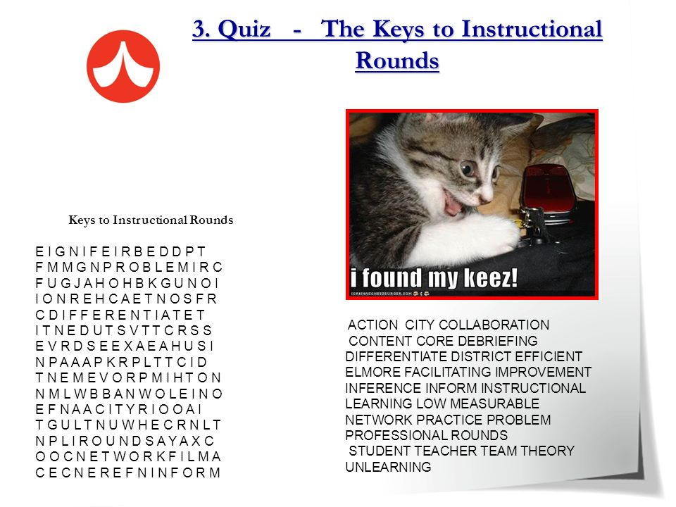 3. Quiz - The Keys to Instructional Rounds