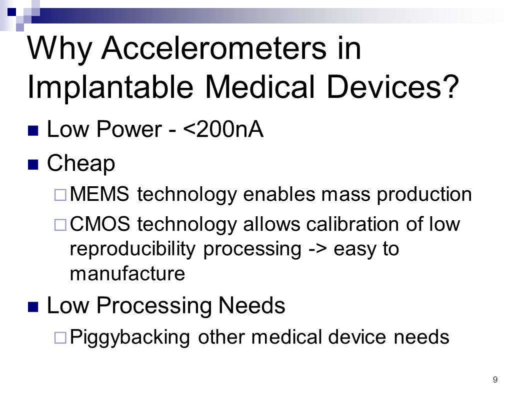 Why Accelerometers in Implantable Medical Devices