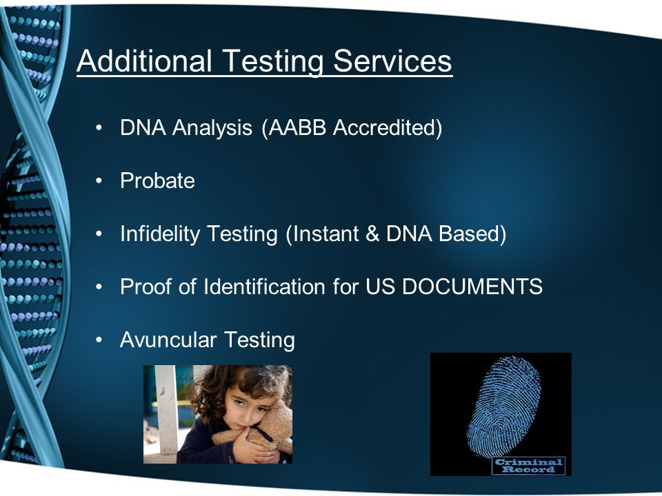 Additional Testing Services