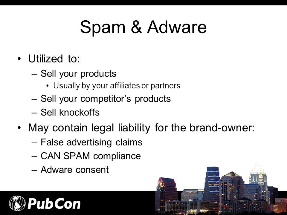 Spam & Adware Utilized to: