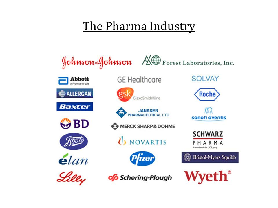 The Pharma Industry Greater than 5000 companies worldwide