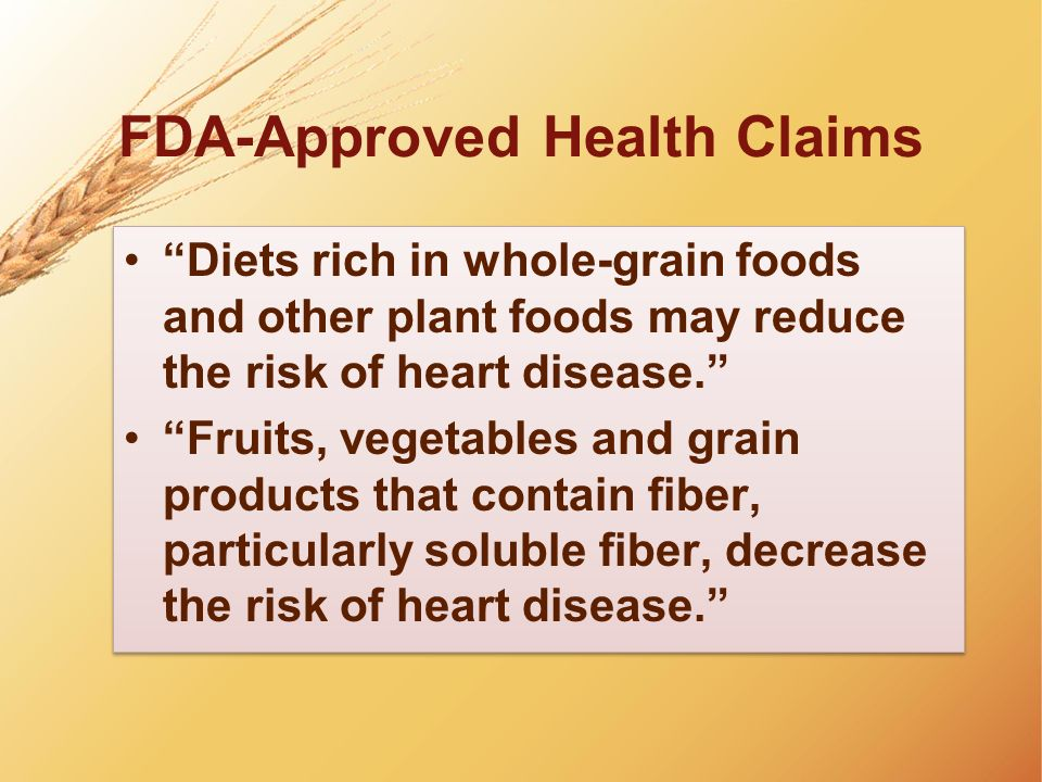 FDA-Approved Health Claims