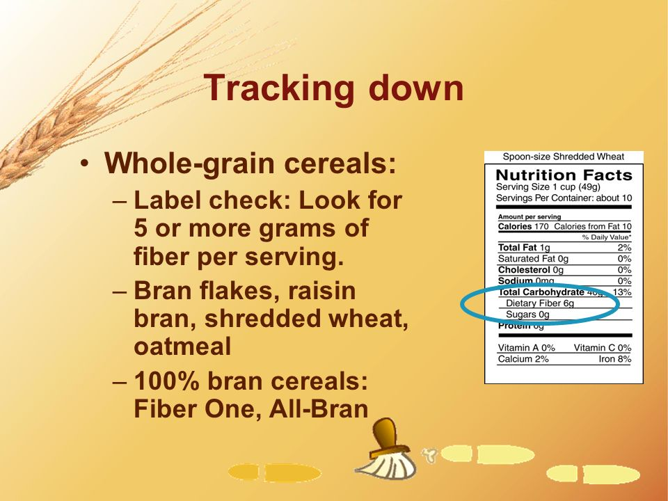 Tracking down Whole-grain cereals: