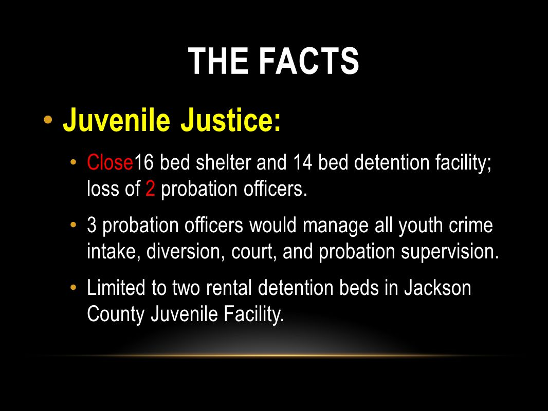 THE FACTS Juvenile Justice:
