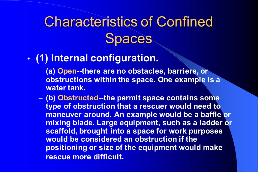 Characteristics of Confined Spaces