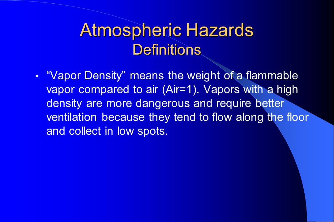 Atmospheric Hazards Definitions