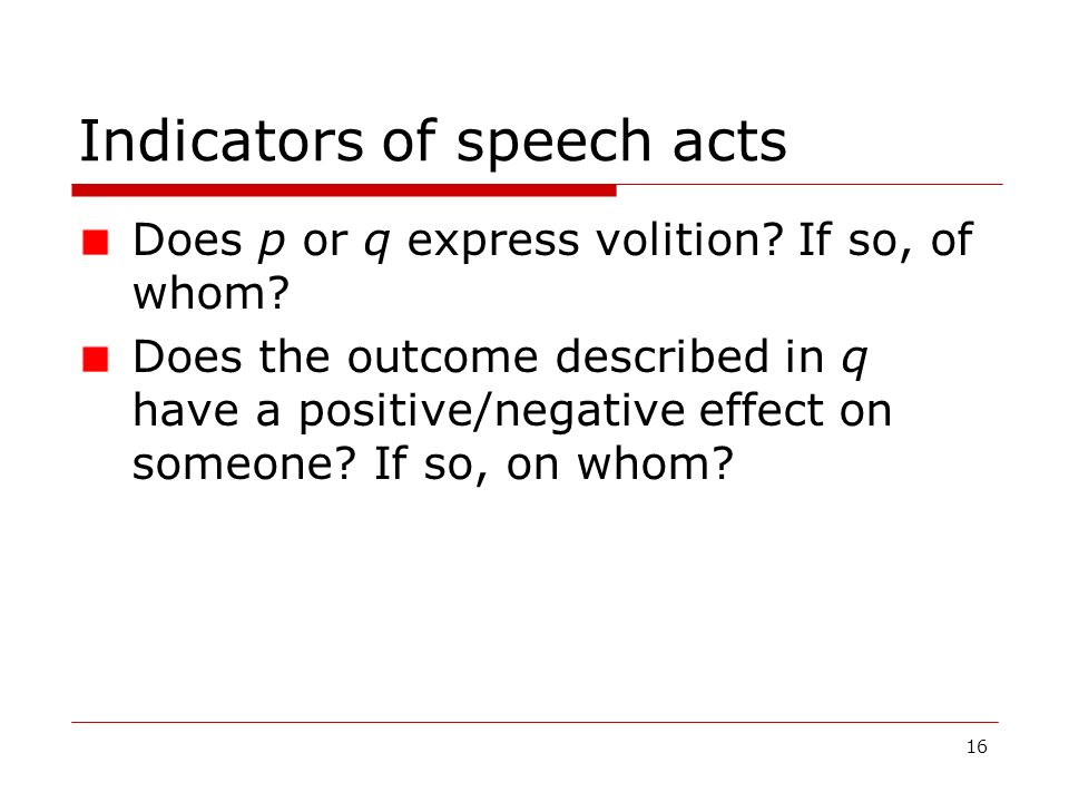 Indicators of speech acts