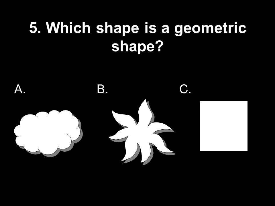 5. Which shape is a geometric shape