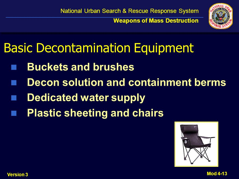 Basic Decontamination Equipment