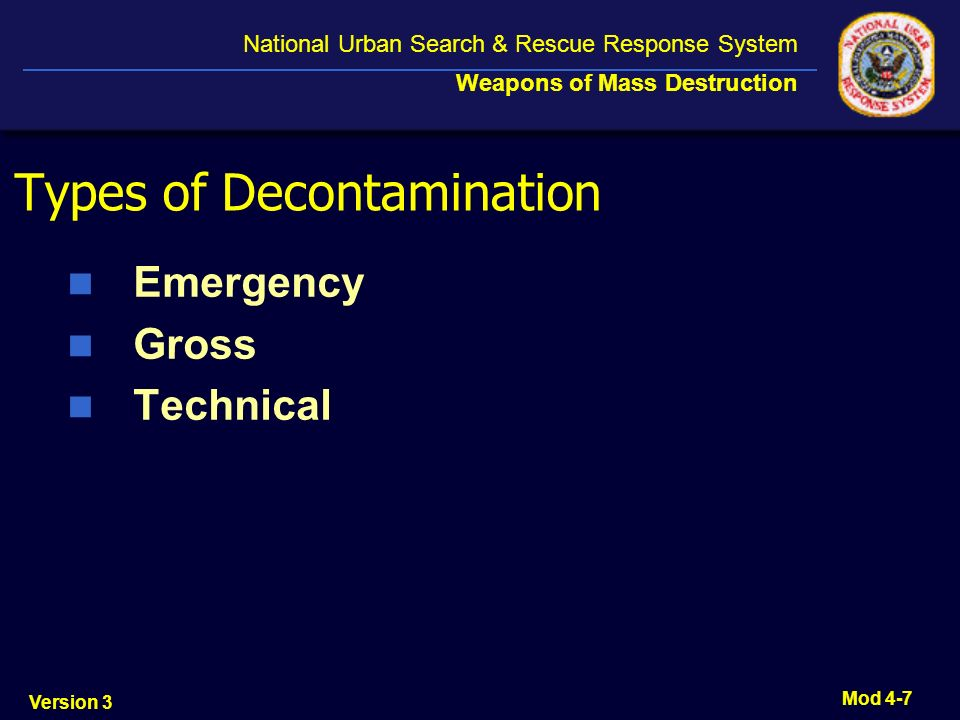 Types of Decontamination