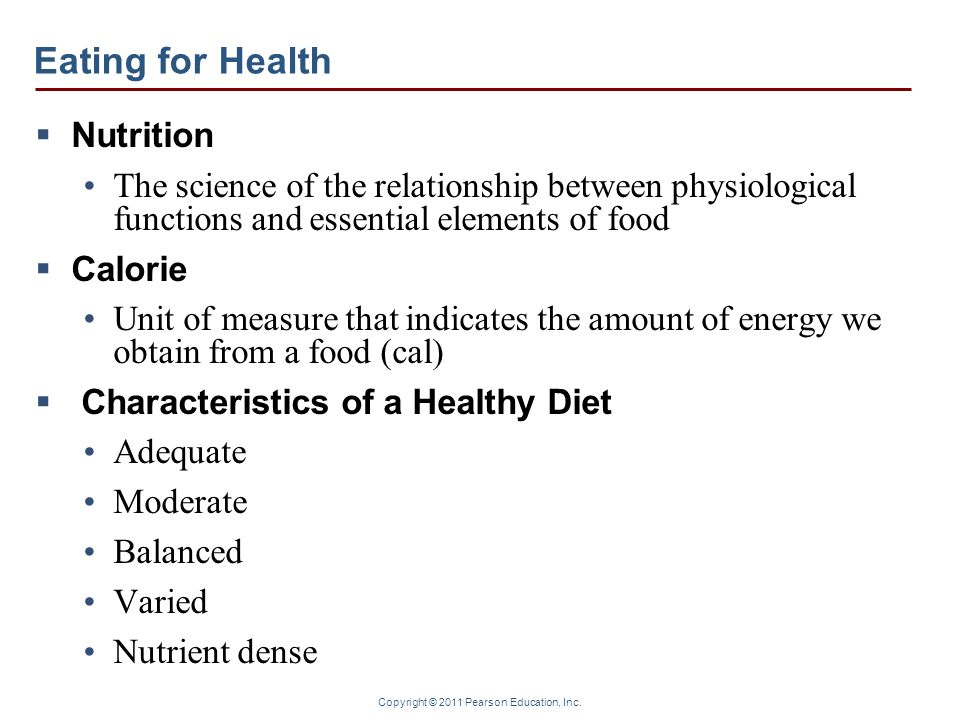 Eating for Health Nutrition