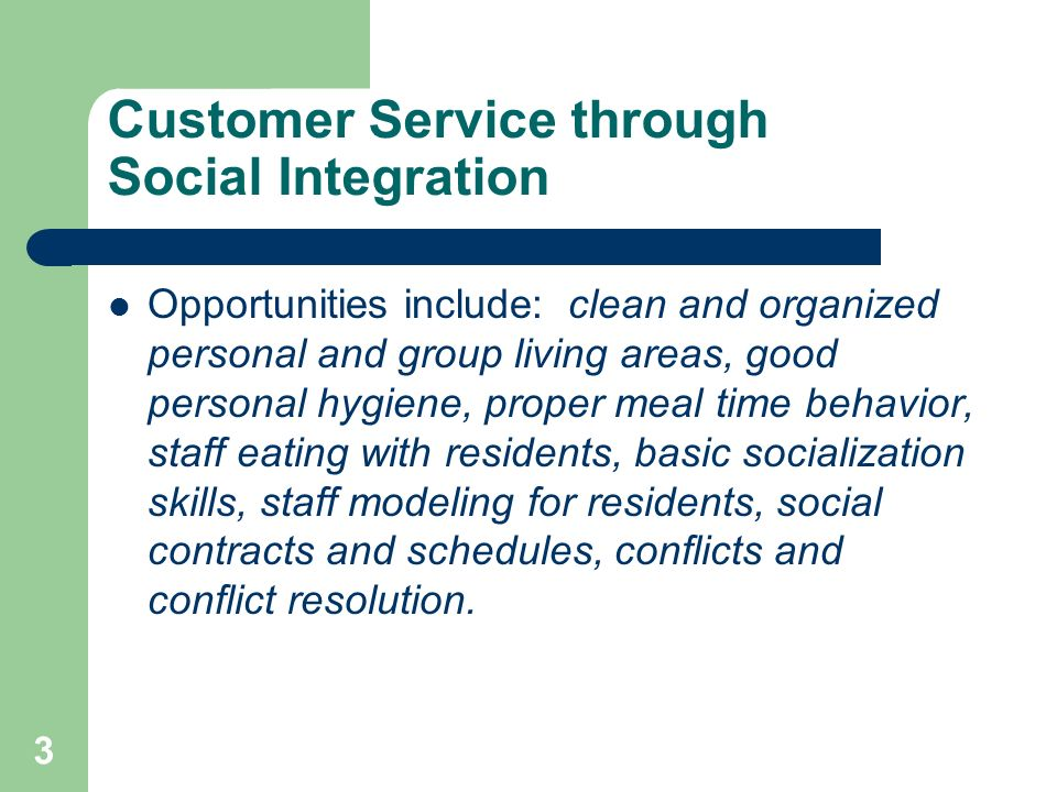 Customer Service through Social Integration
