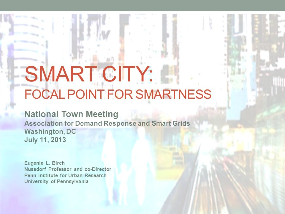 Smart city: Focal Point for smartness