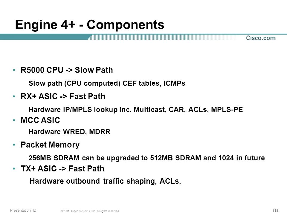 Engine 4+ - Components R5000 CPU -> Slow Path