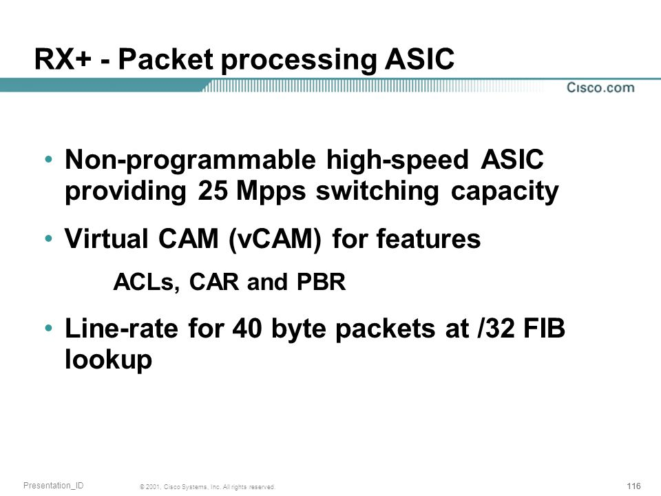 RX+ - Packet processing ASIC