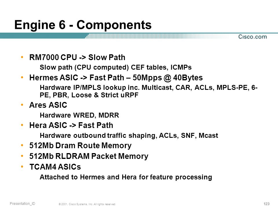 Engine 6 - Components RM7000 CPU -> Slow Path
