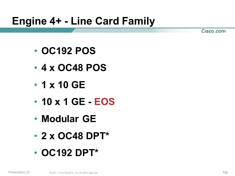 Engine 4+ - Line Card Family