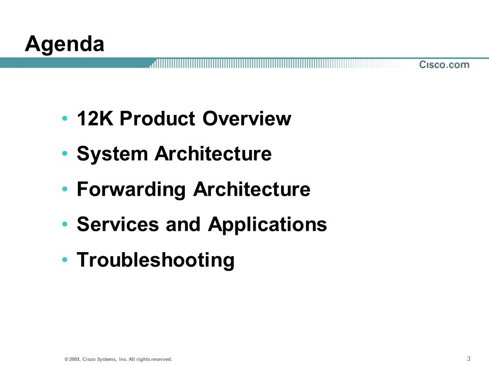 Agenda 12K Product Overview System Architecture