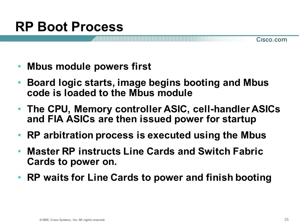 RP Boot Process Mbus module powers first