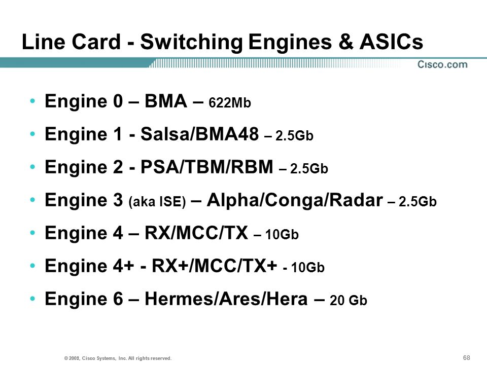 Line Card - Switching Engines & ASICs