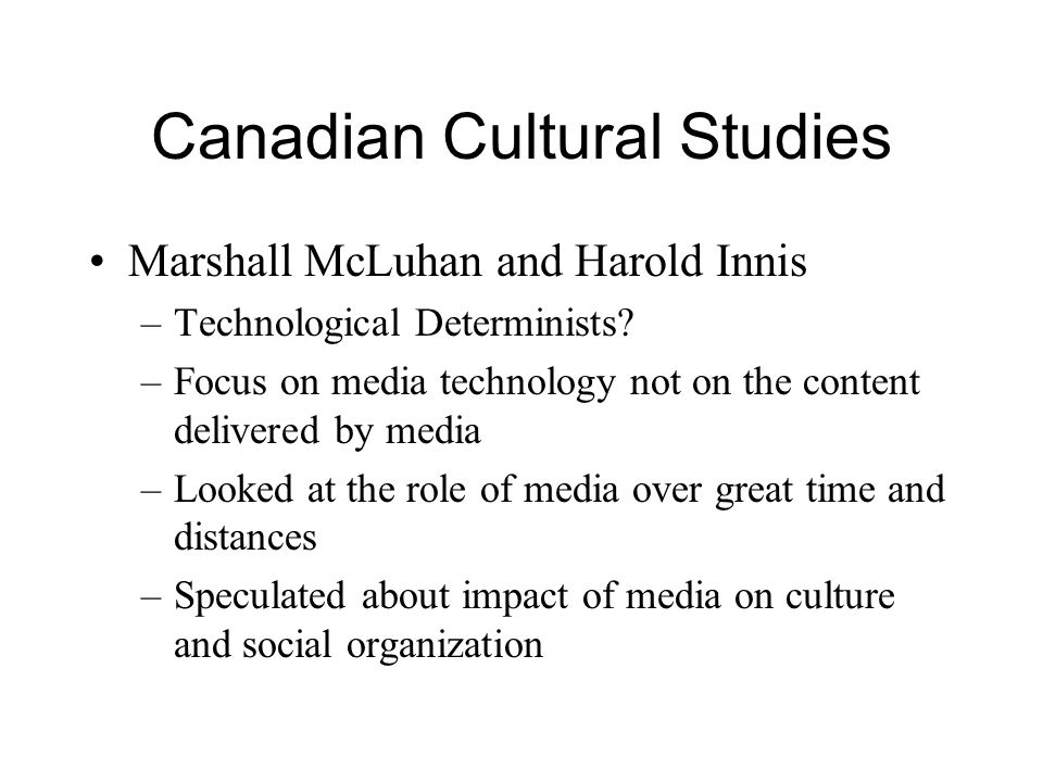 Canadian Cultural Studies