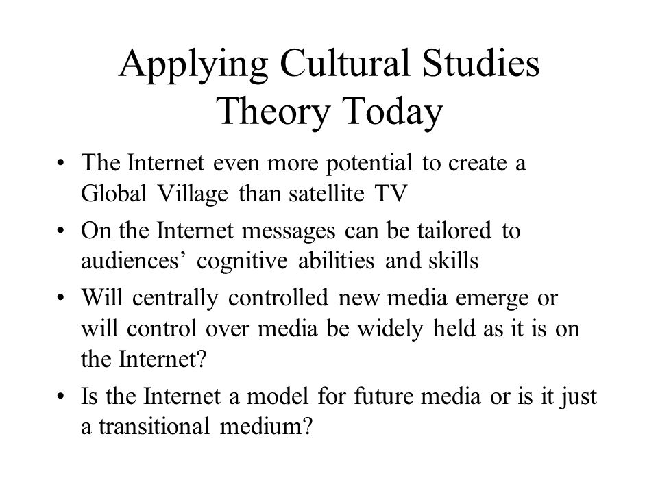 Applying Cultural Studies Theory Today