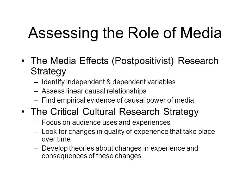 Assessing the Role of Media