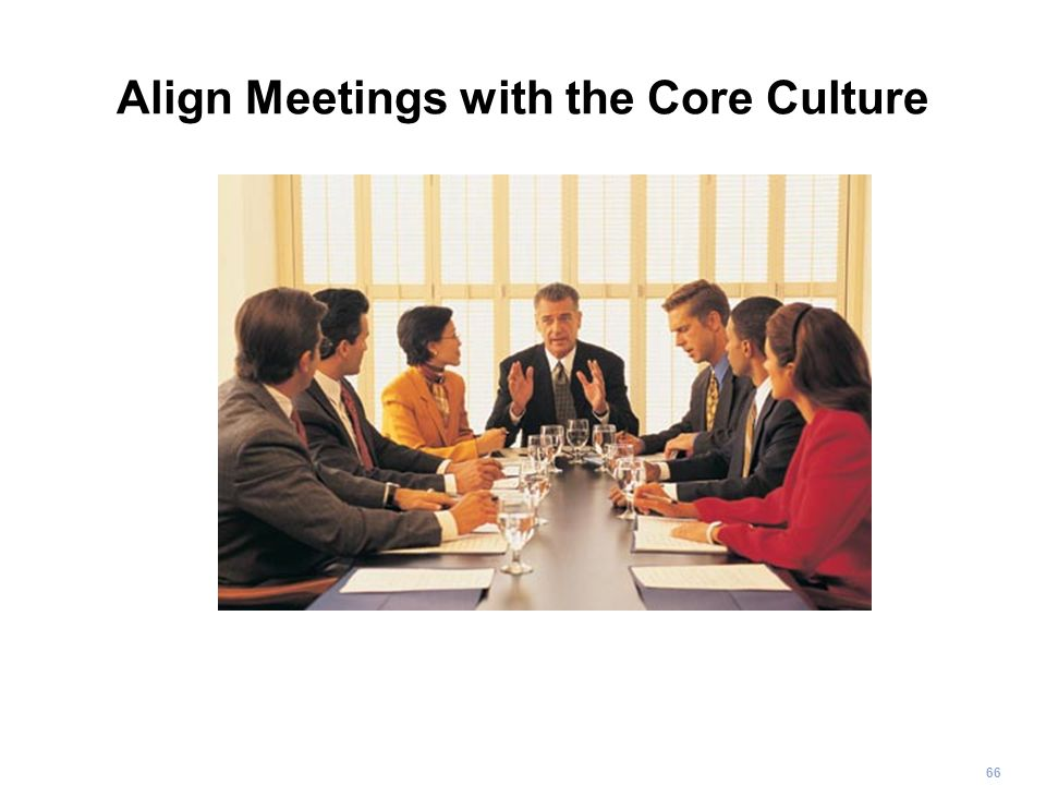 Align Meetings with the Core Culture