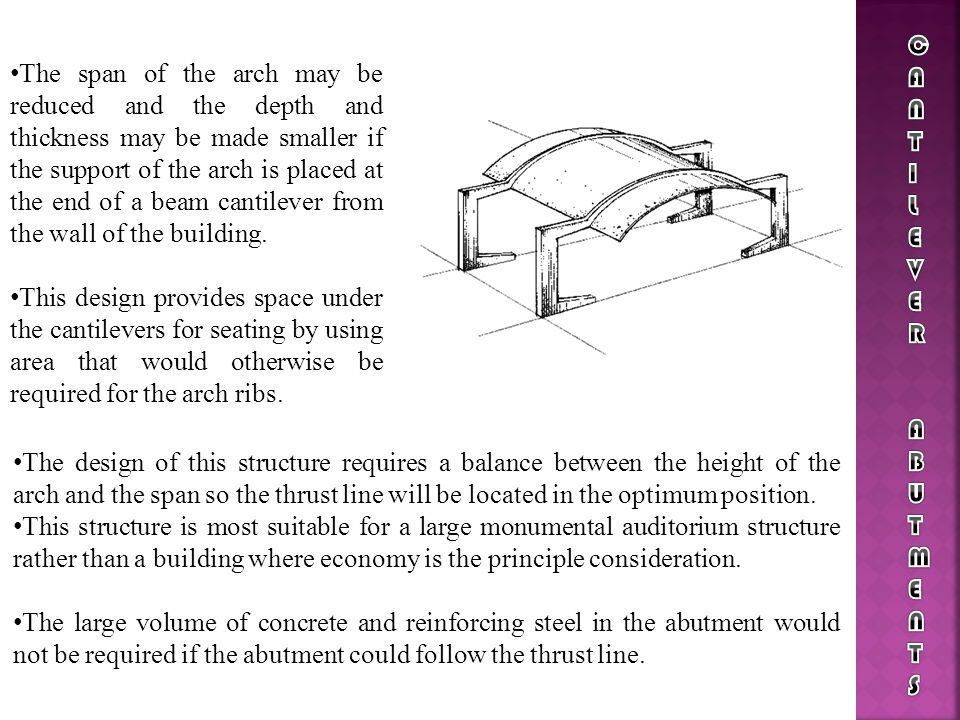 CANTILEVER ABUTMENTS