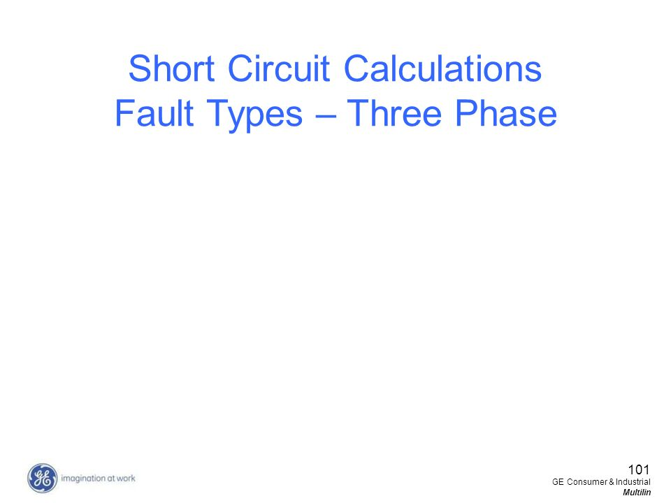 Short Circuit Calculations Fault Types – Three Phase